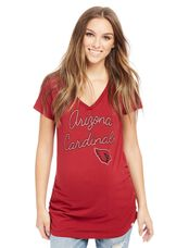 Arizona Cardinals NFL Short Sleeve Maternity Graphic Tee, Cardinals Red