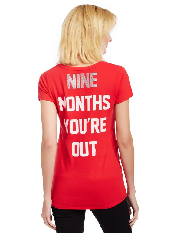 Los Angeles Angels of Anaheim MLB You're Out Maternity Tee, Angels Red