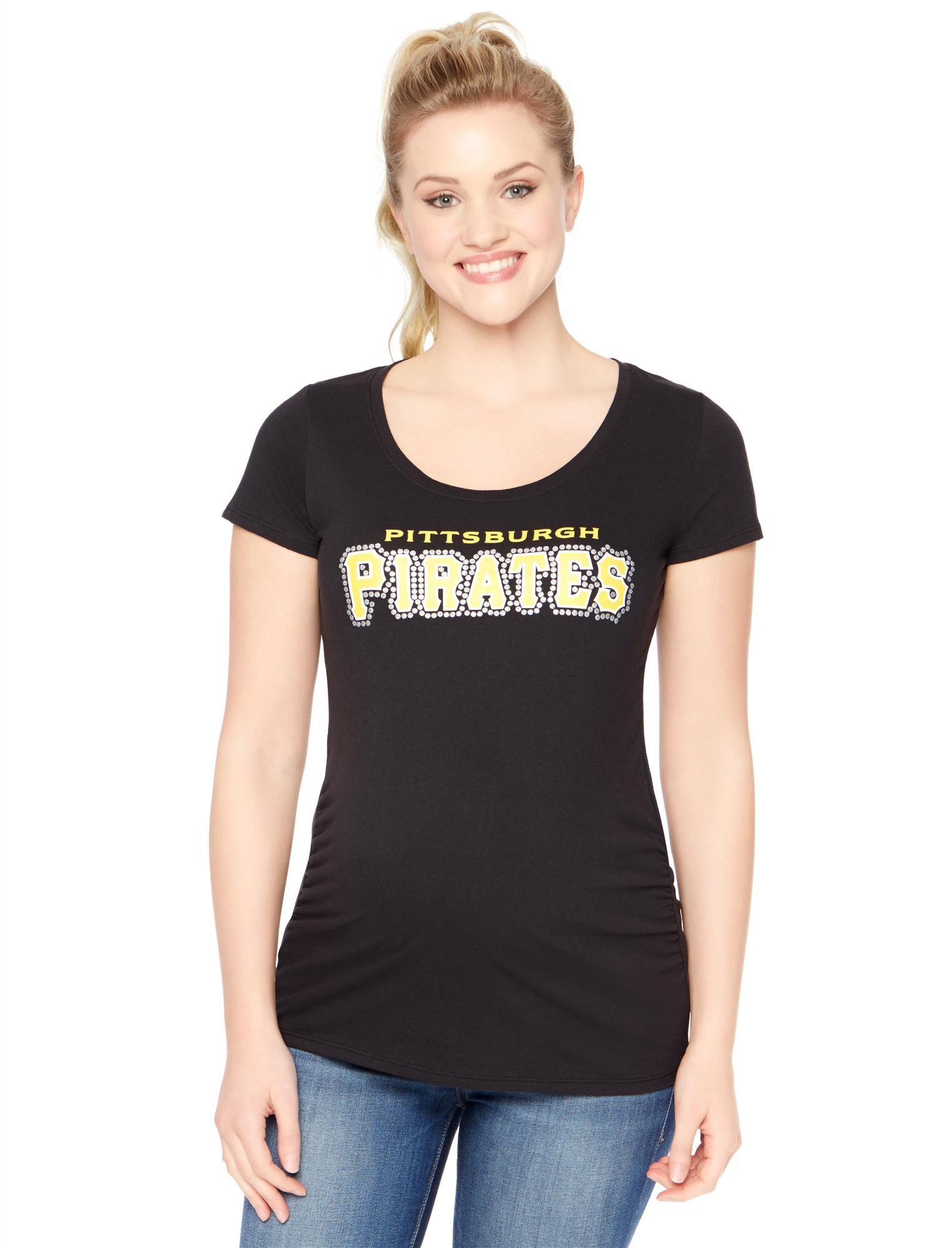 Pittsburgh Pirates MLB Short Sleeve Maternity Tee