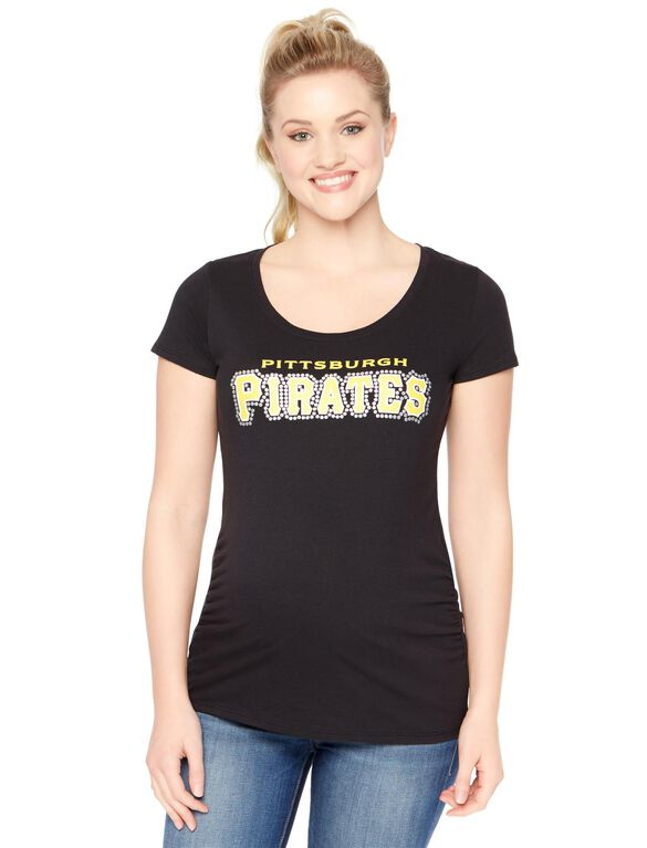 Pittsburgh Pirates MLB Short Sleeve Maternity Tee, Pirates