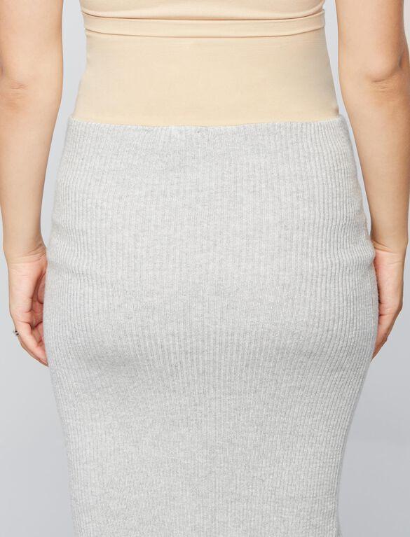 Secret Fit Belly Rib Knit Maternity Skirt, Heather Grey