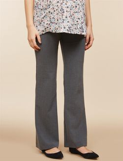 Secret Fit Belly Bi-stretch Suiting Flare Leg Maternity Pants, Grey