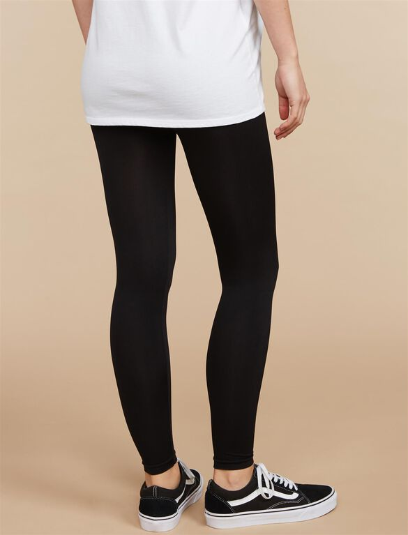 Seamless Maternity Leggings, Black