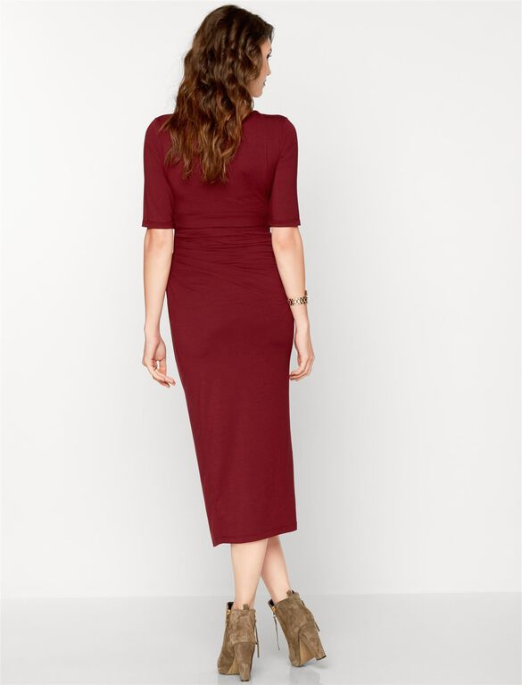 Isabella Oliver Maternity Dress, Deep Bordeaux