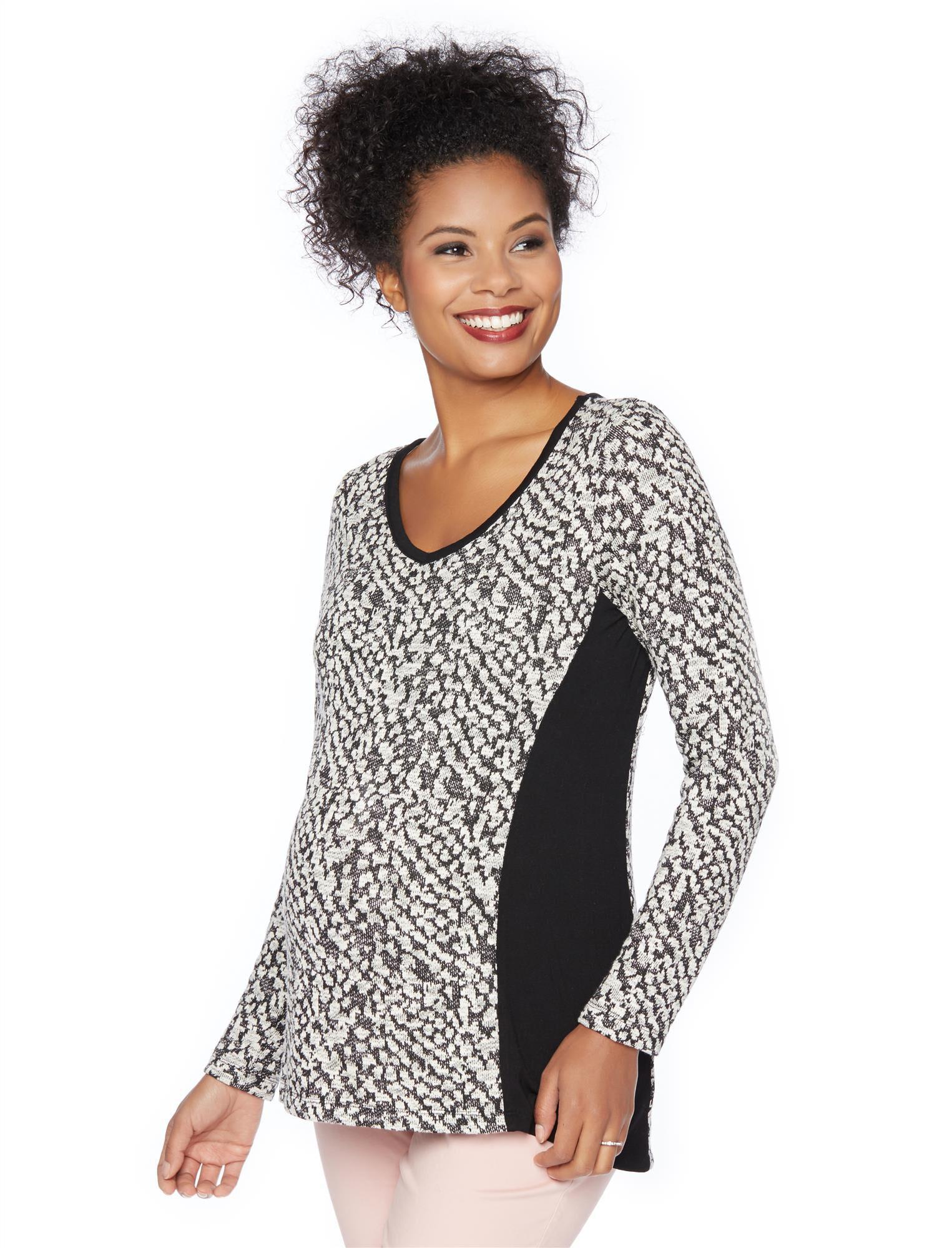 Animal Print Maternity Sweatshirt