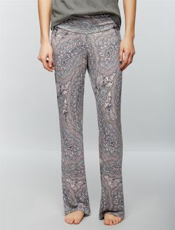 Bow Detail Maternity Sleep Pants, Paisley Print