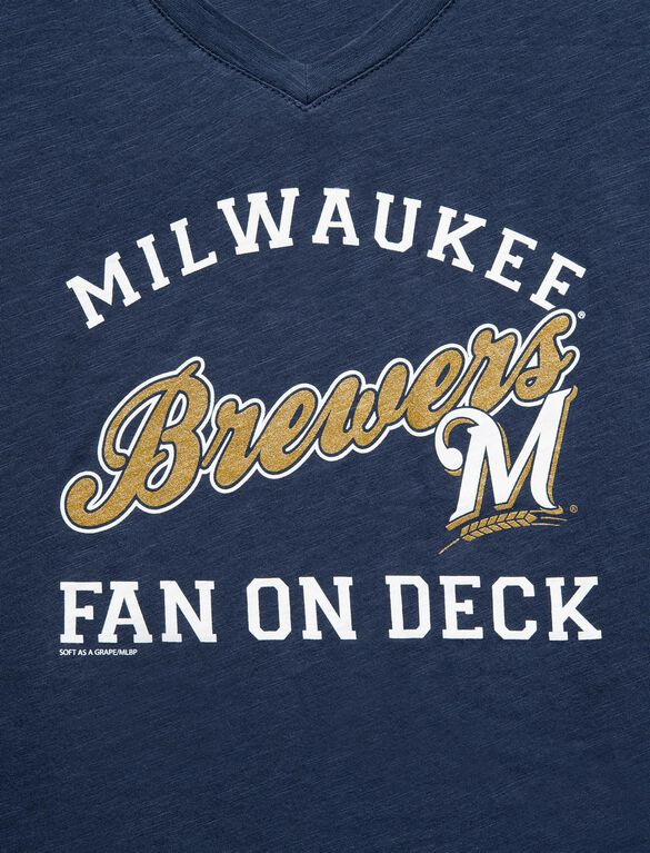 Milwaukee Brewers MLB Short Sleeve Maternity Graphic Tee, Brewers