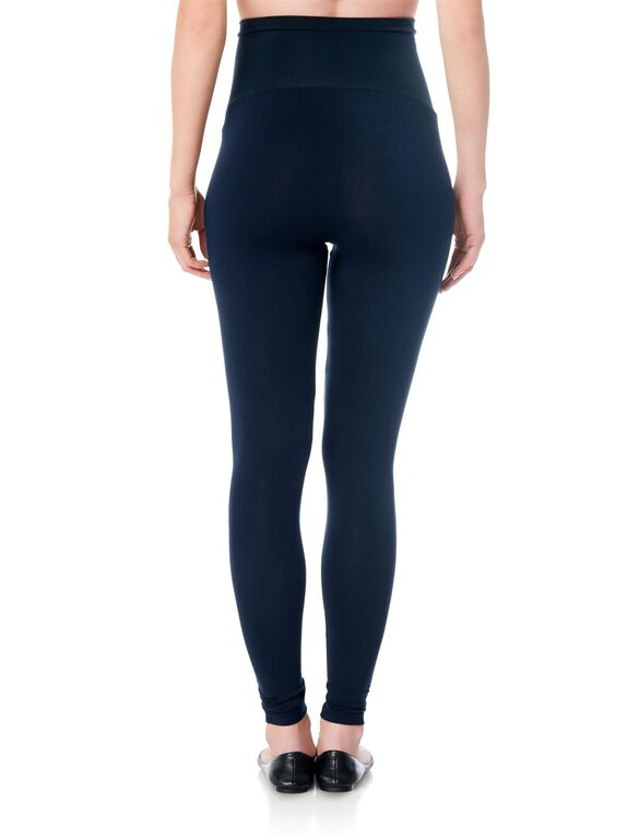 Luxe Essentials Secret Fit Belly Maternity Leggings, Navy