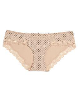 Lace Maternity Hipster Panties (single)- Print, Geometric Print