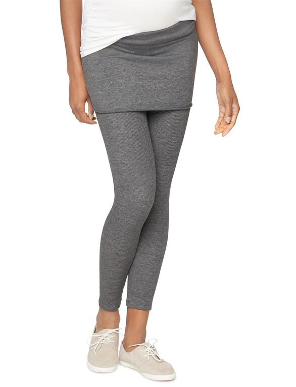 Splendid No Belly Skinny Leg Maternity Pants, Charcoal