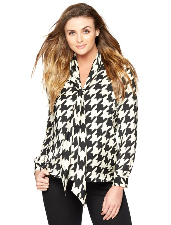 Madderson Maternity Blouse, Black/Ivory