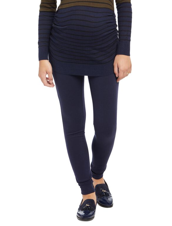 Secret Fit Belly Ponte Skinny Maternity Pants, Navy