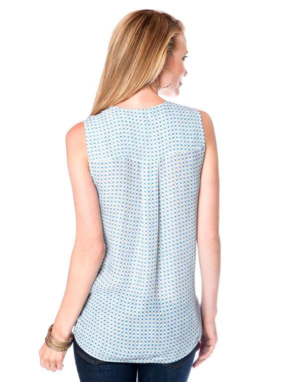 Vince Sleeveless Silk Maternity Blouse, Dot Print