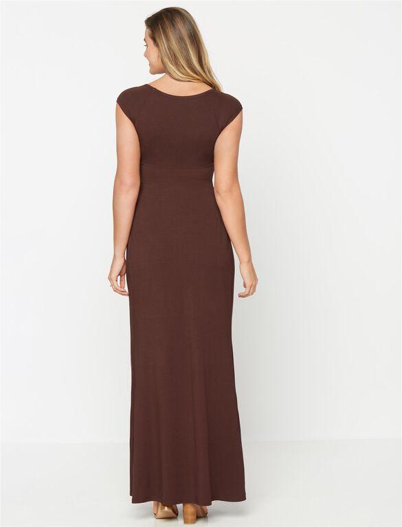 Isabella Oliver Ashton Maternity Maxi Dress, Chocolate