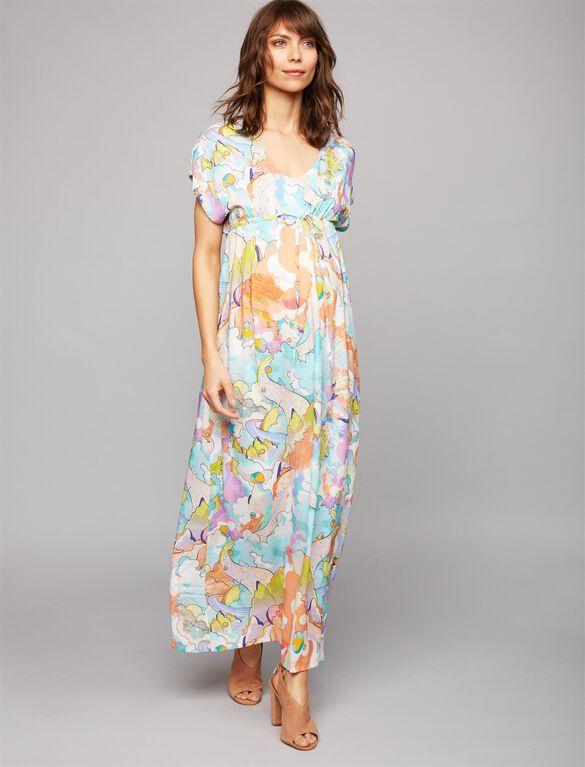Web Only Pietro Brunelli Caftan Maternity Dress, Multi Print