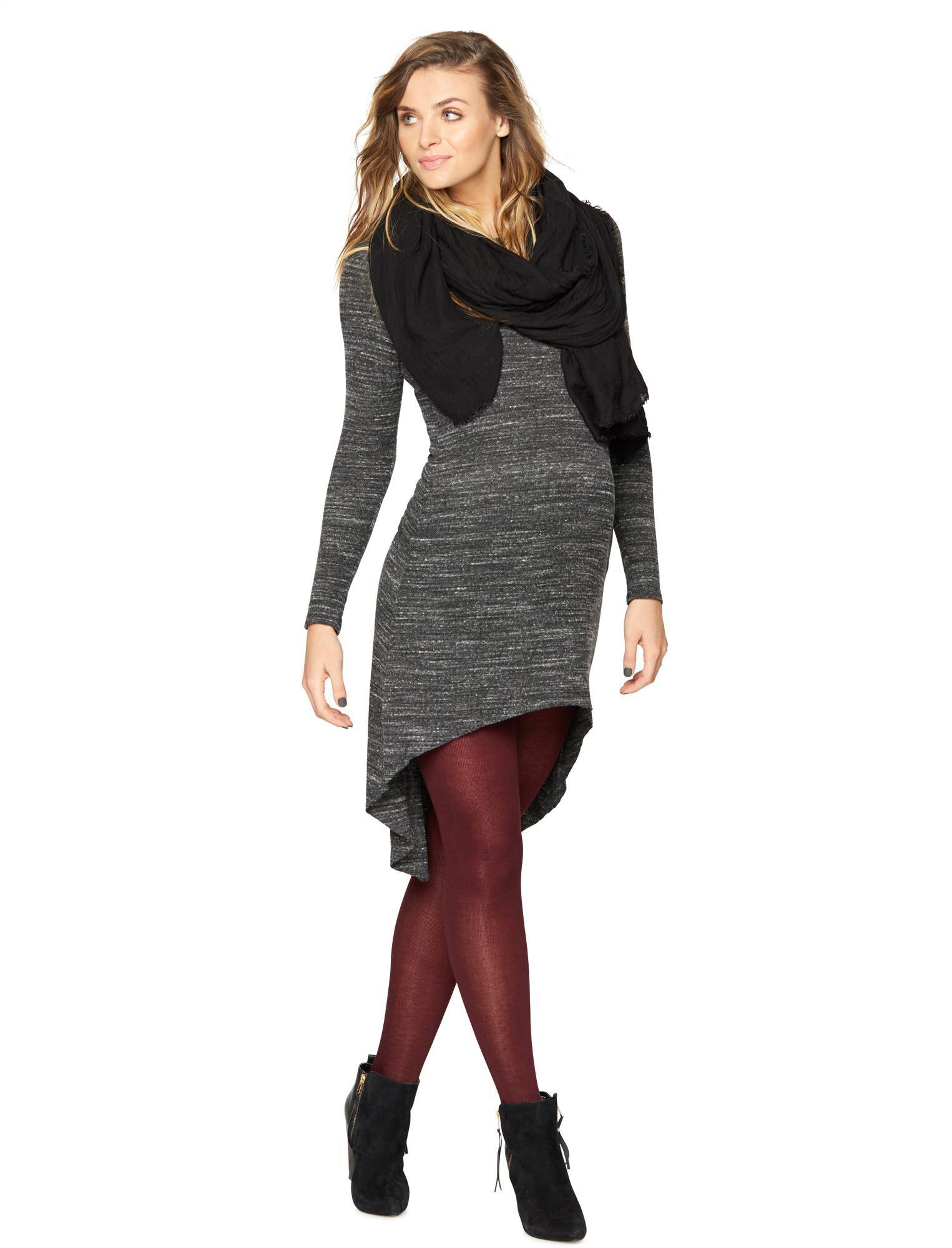 Sen High-low Knit Maternity Dress