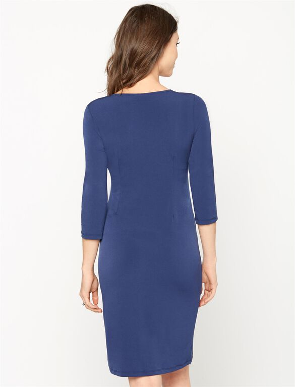 Wrap Maternity Dress, Midnight