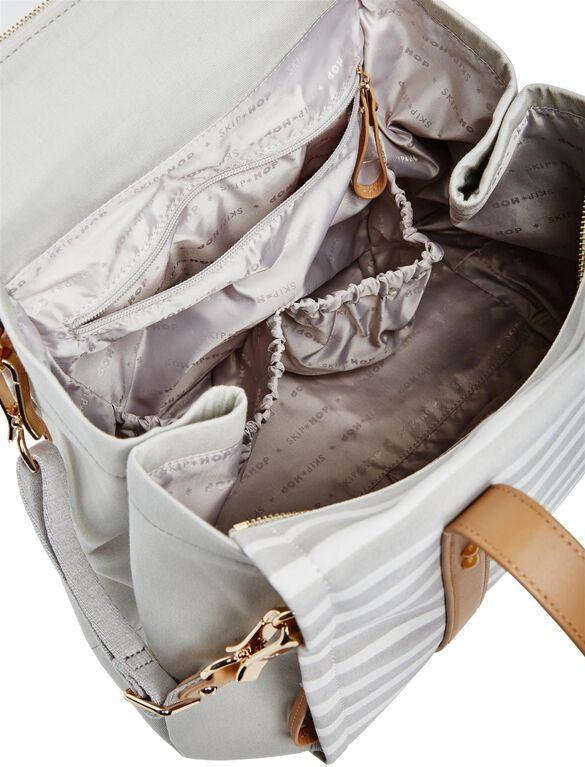 Skip Hop Highline Convertible Tote Diaper Bag, Oyster Stripe