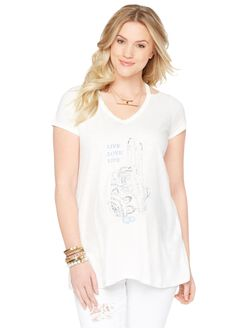 Wendy Bellissimo Screen Print Maternity Top, Graphic
