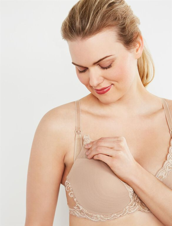 Natori Demi Lightly Lined Nursing Bra, Nude