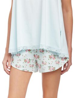 Relaxed Fit Maternity Sleep Shorts- Floral, Floral