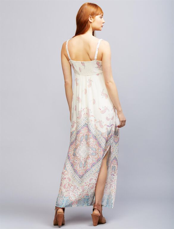 Seraphine Elisha Maternity Maxi Dress, Multi Print