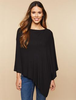 Lift Up Poncho Nursing Cardigan, Black