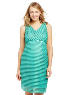 Jacquard Lace Maternity Dress, Marine Green