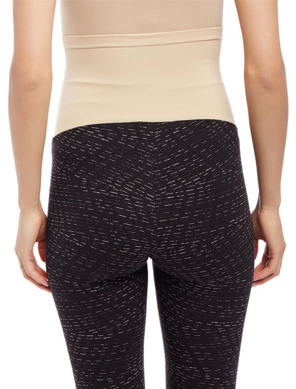 Secret Fit Belly Printed Maternity Leggings, Line Print