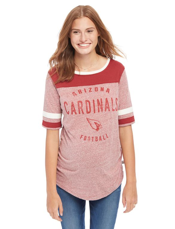 Arizona Cardinals NFL Elbow Sleeve Maternity Graphic Tee, Cardinals Red