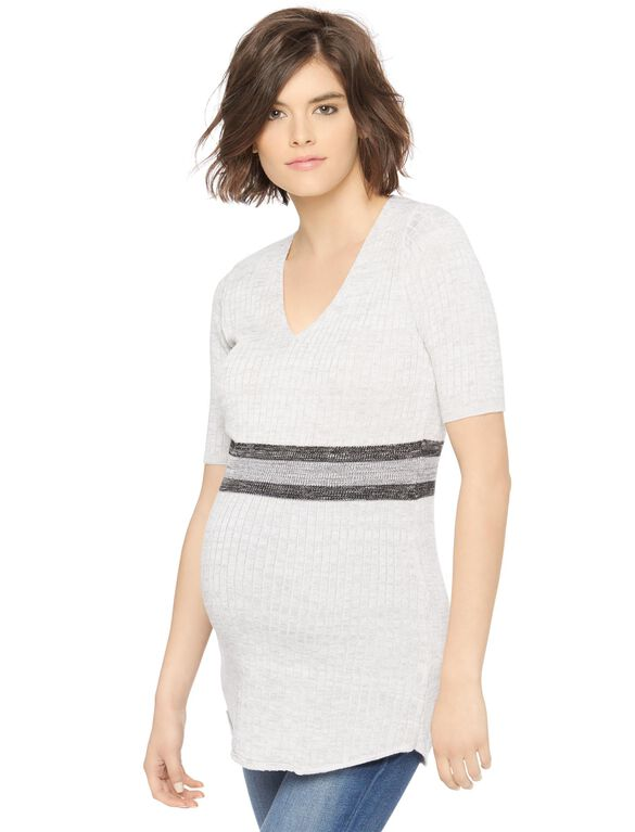 Bold Stripe Maternity Tunic, Nuetral