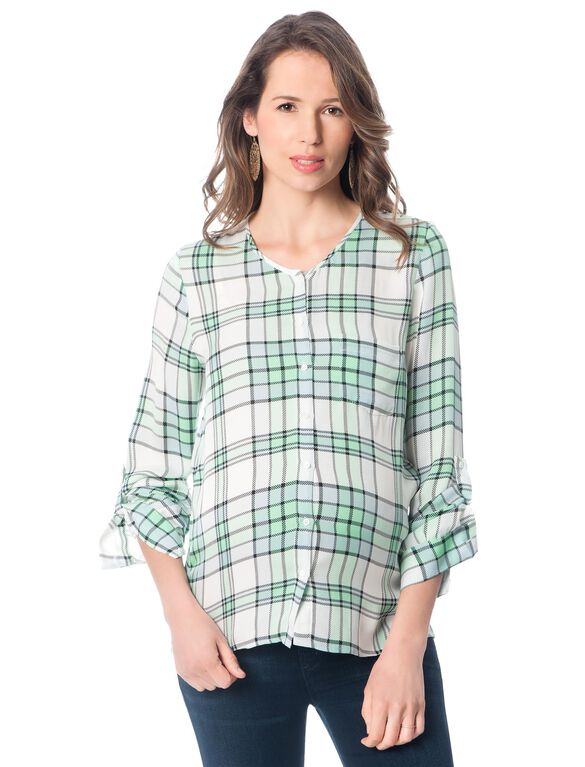 Maternity Blouse, Seagrass