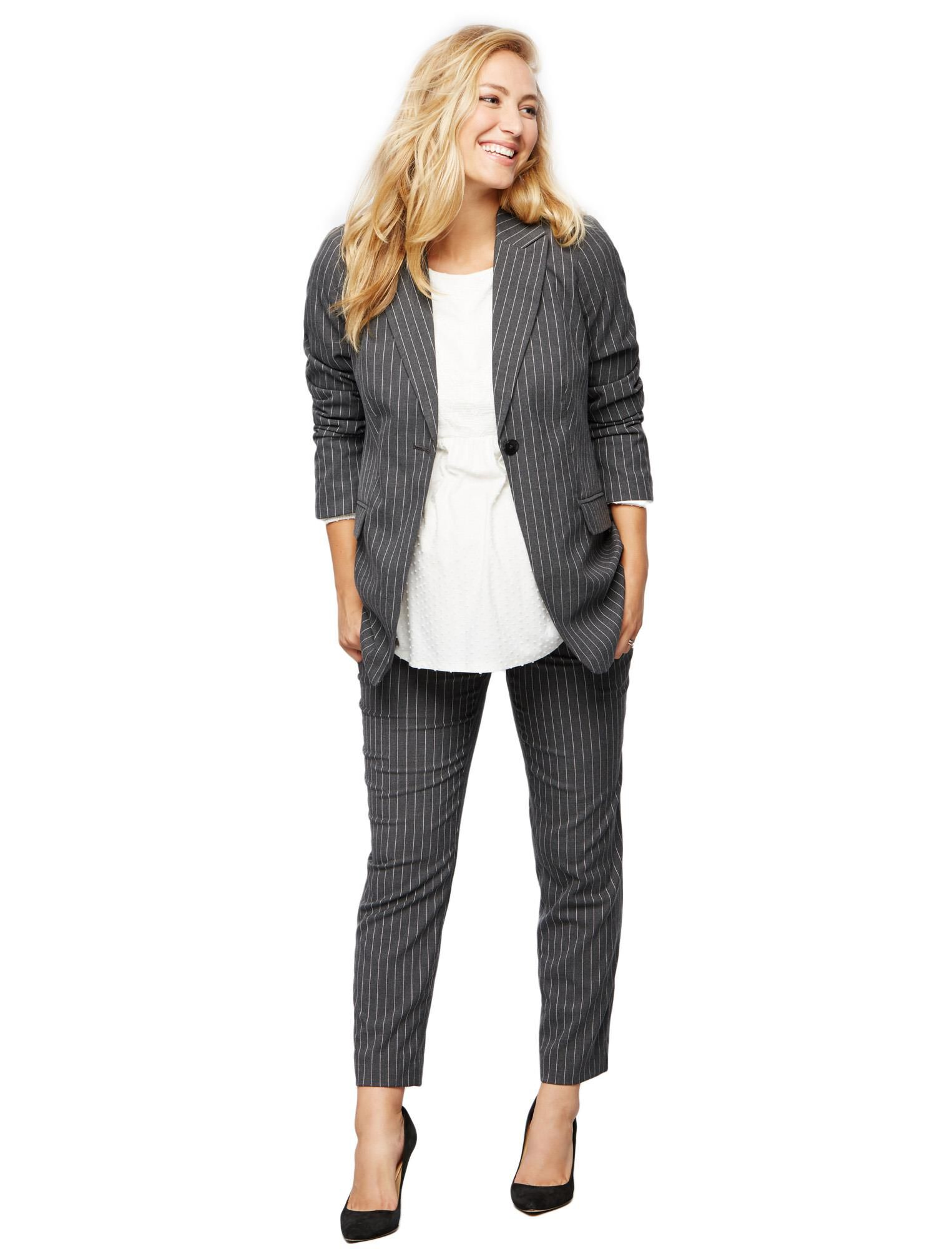 Secret Fit Belly Pinstripe Maternity Suiting Pants