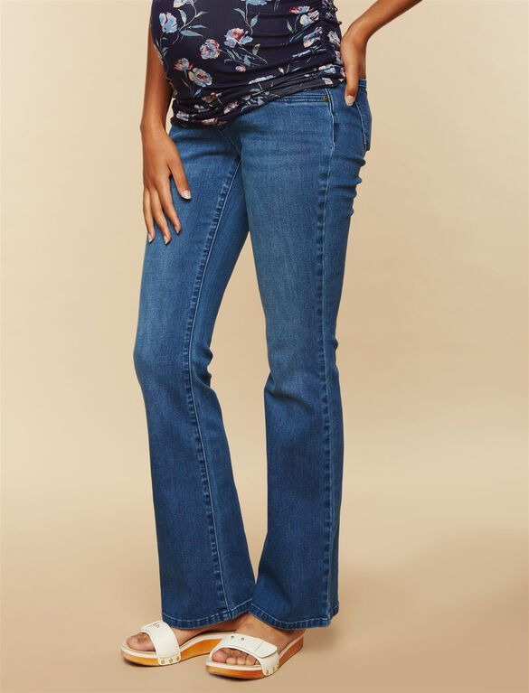 Secret Fit Belly Stretch Boot Cut Maternity Jeans, Medium Wash