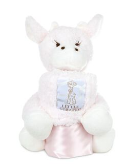 Little Giraffe Cuddle: Mini Giraffe And Blanky, Pink