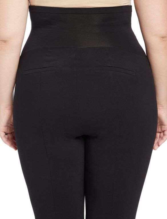 Plus Size Secret Fit Belly Skinny Ankle Maternity Pants, Black