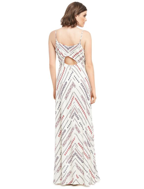 Wendy Bellissimo Back Interest Maternity Maxi Dress, Multi Print