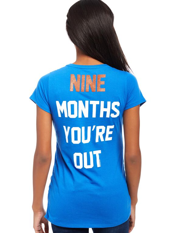 New York Mets MLB You're Out Maternity Tee, Mets Blue