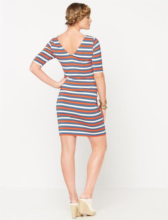 Rachel Zoe Back Interest Maternity Dress, Multi Stripe