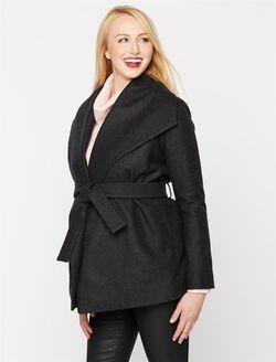 Isabella Oliver Removable Hood Maternity Jacket, Charcoal