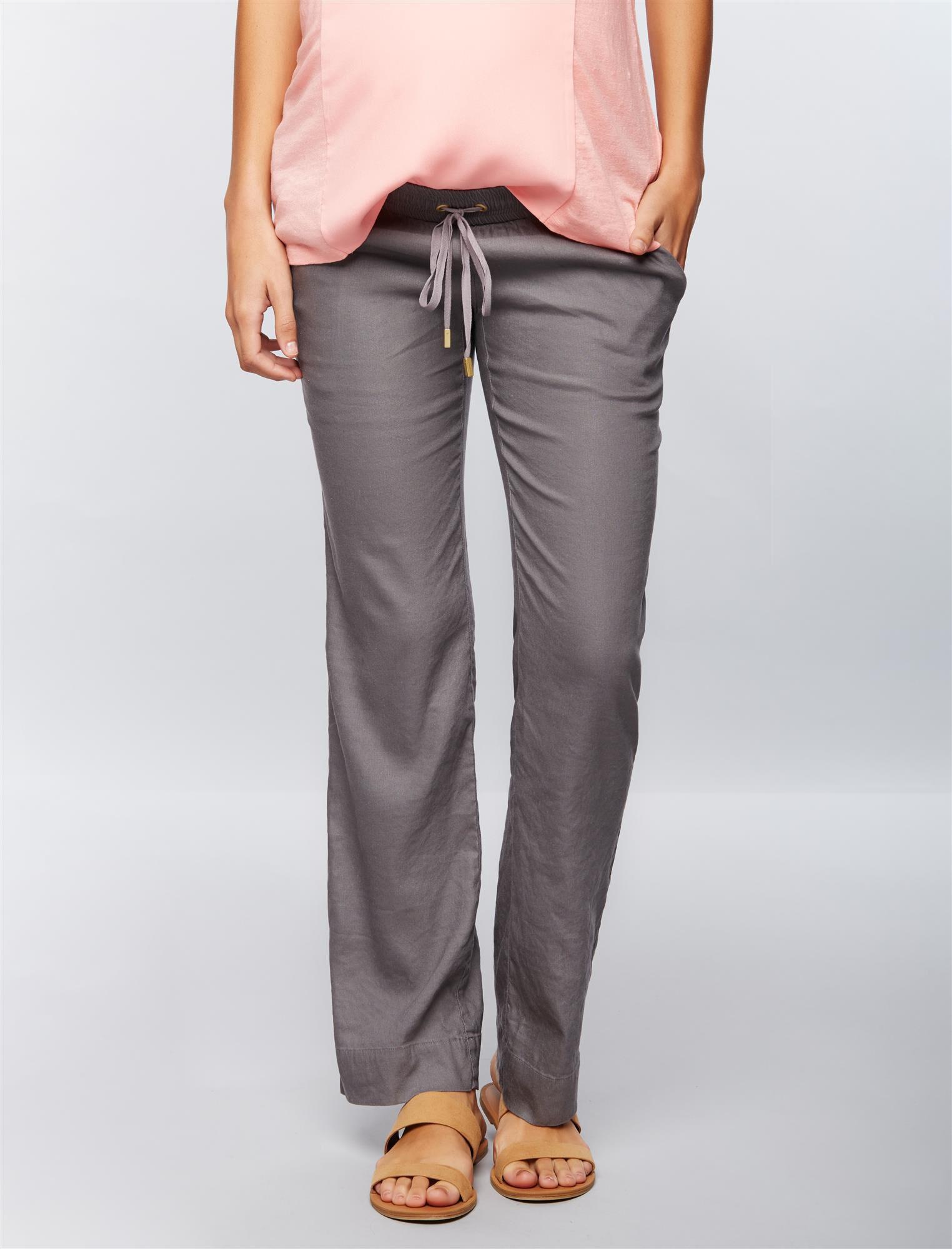 Under Belly Linen Wide Leg Maternity Pants