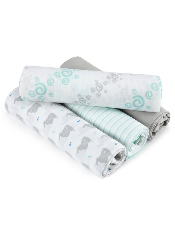 Aden By Aden + Anais Swaddle Plus 4 Pack, Baby Star