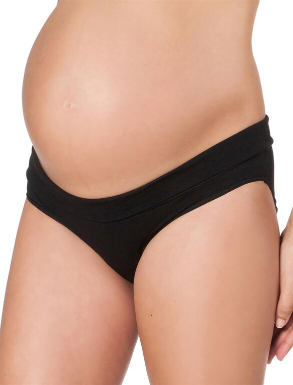Maternity Fold Over Panties (3 Pack)- Neutrals, Black/White/Nude