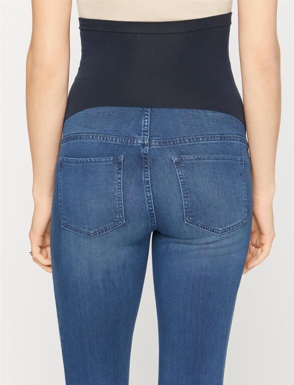 Luxe Essentials Denim Secret Fit Belly Denim Maternity Jeggings, Medium Wash