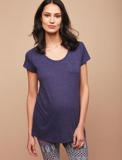Pocket Tee Maternity T Shirt, Navy