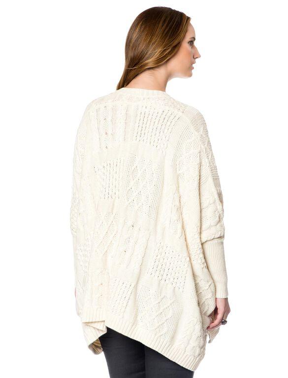 Maternity Sweater, Cream