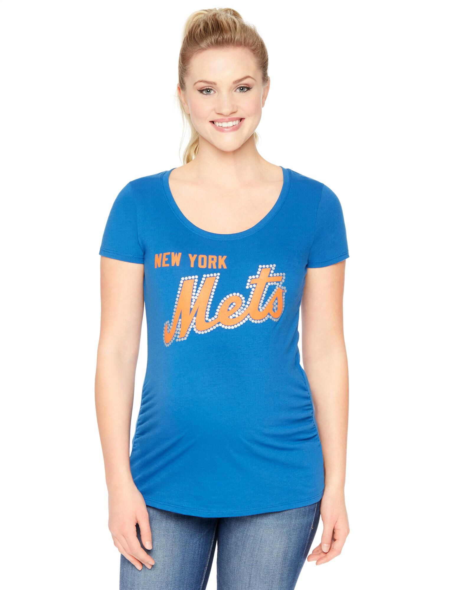 New York Mets MLB Short Sleeve Maternity Tee