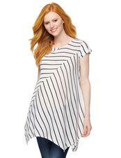 A-line Maternity Tunic, White/Black