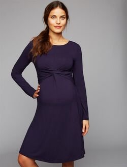 Web Only Isabella Oliver Sheath Maternity Dress, Dark Navy