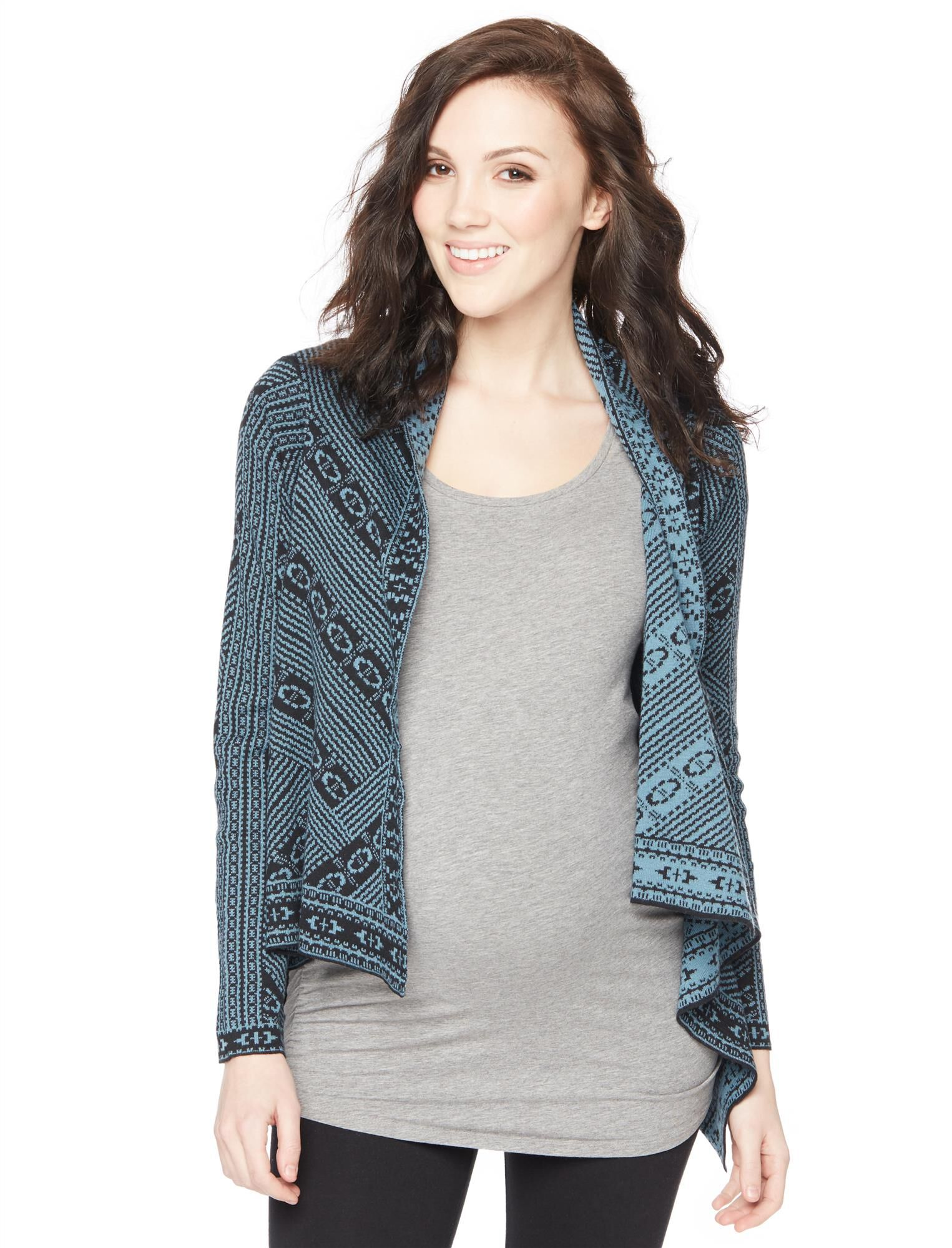 Wendy Bellissimo Aztec Print Maternity Cardigan